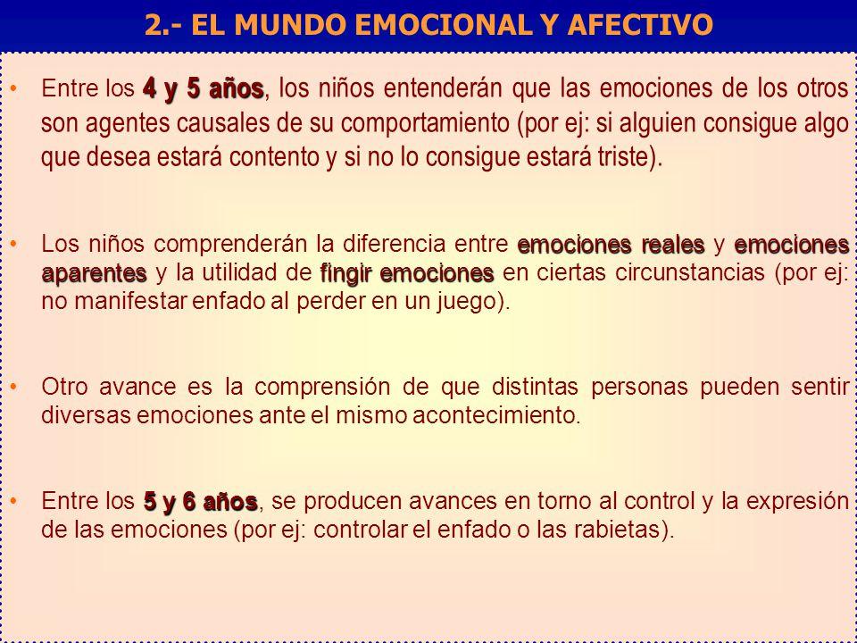2.- EL MUNDO EMOCIONAL Y AFECTIVO
