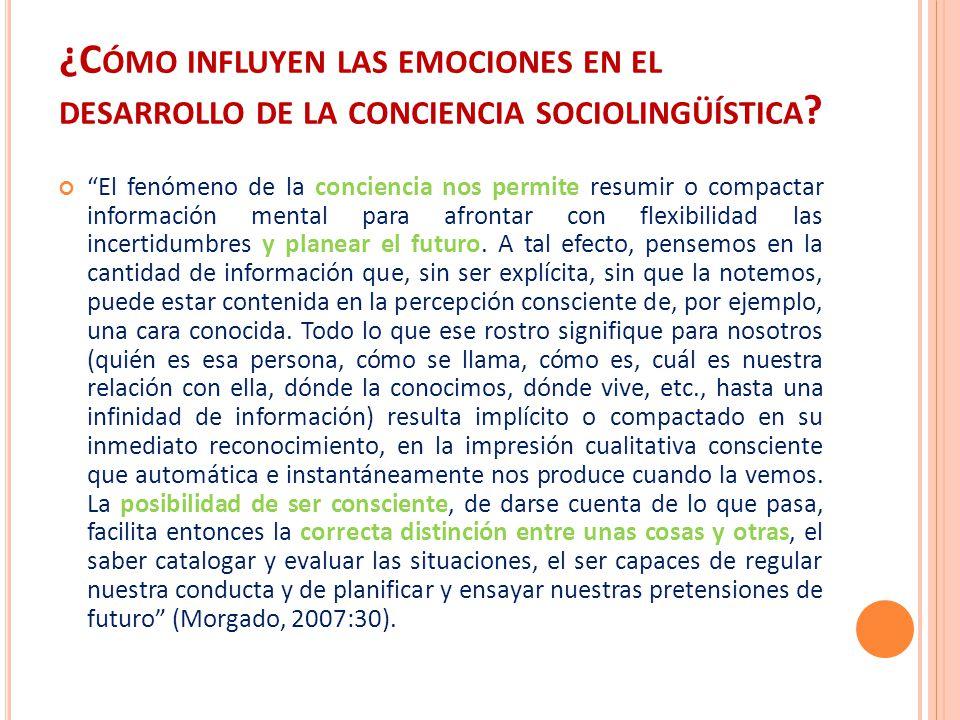 ¿Cómo influyen las emociones en el desarrollo de la conciencia sociolingüística