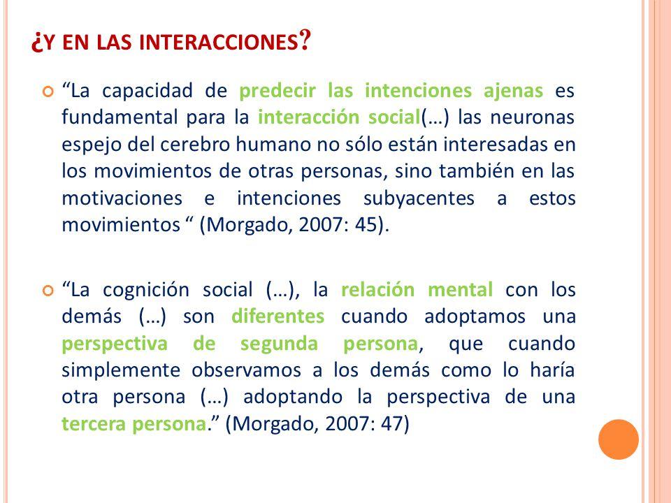 ¿y en las interacciones