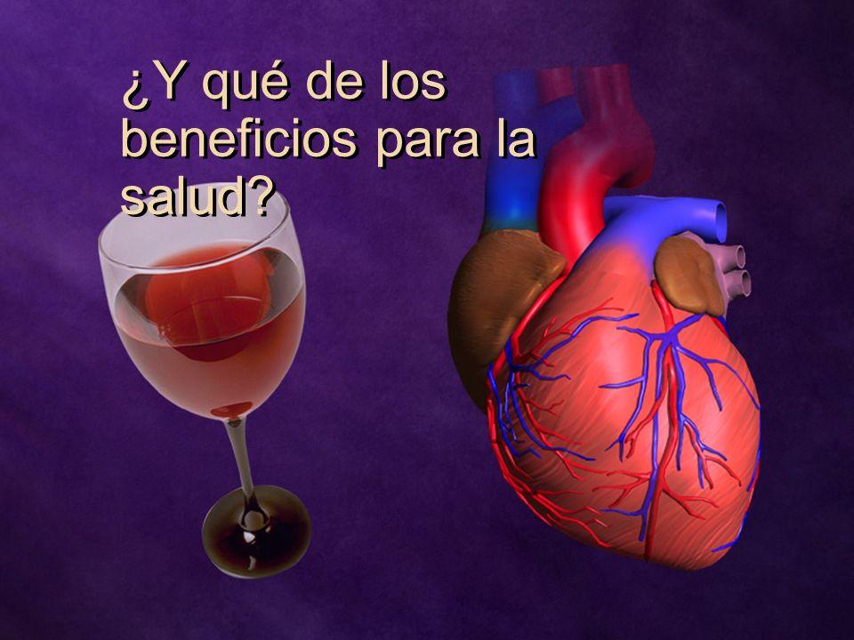 ¿Y qué de los beneficios para la salud