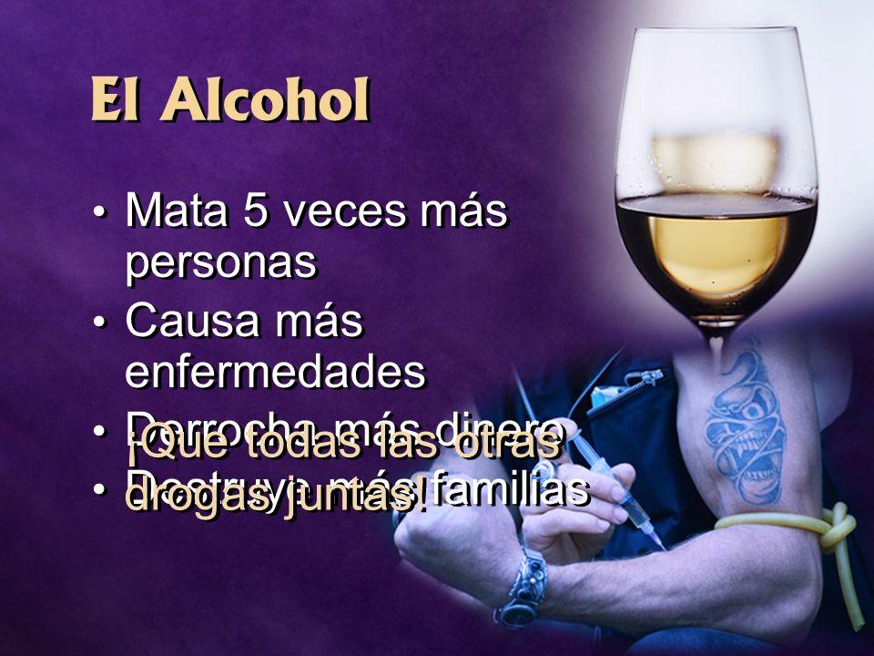 El Alcohol ¡Que todas las otras drogas juntas!