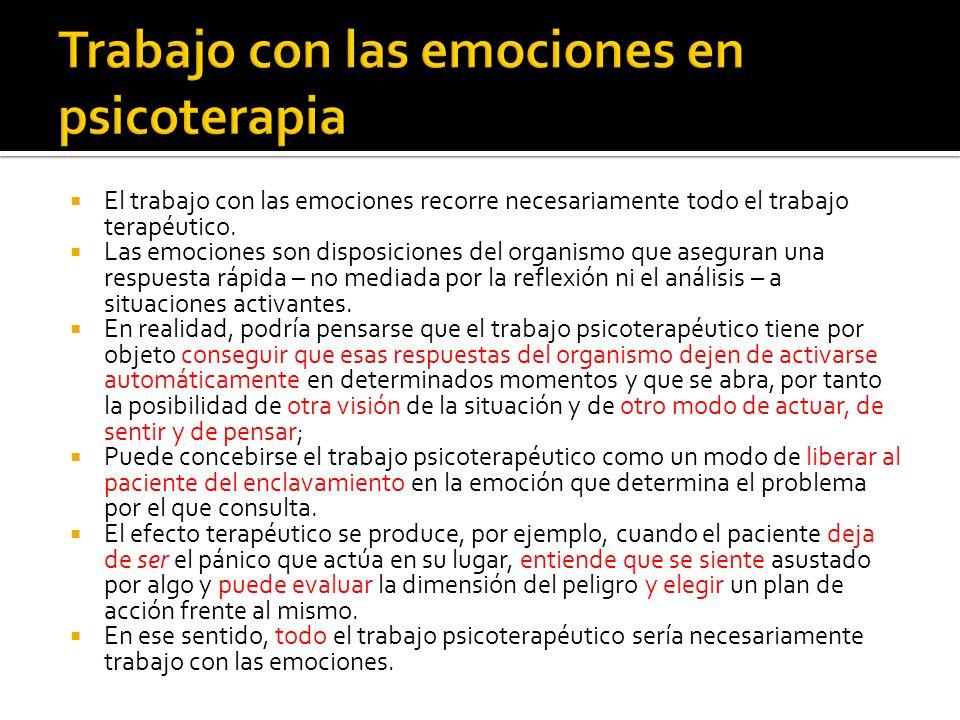 Trabajo con las emociones en psicoterapia