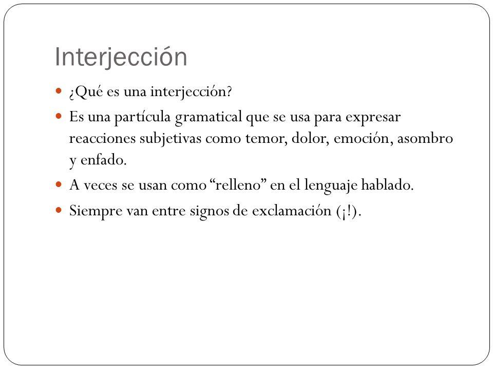 Interjección ¿Qué es una interjección