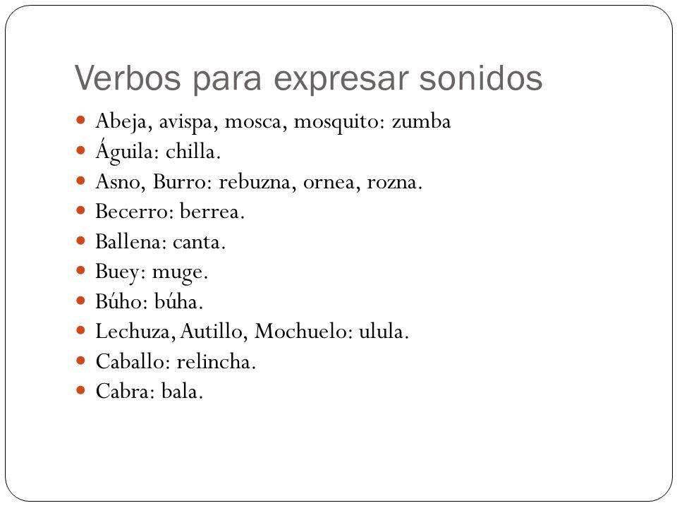 Verbos para expresar sonidos