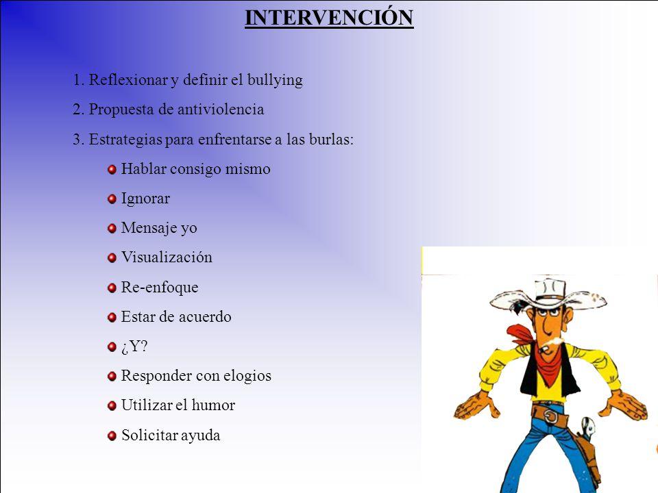 INTERVENCIÓN 1. Reflexionar y definir el bullying