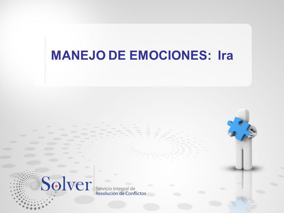 MANEJO DE EMOCIONES: Ira