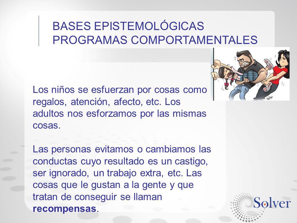 BASES EPISTEMOLÓGICAS PROGRAMAS COMPORTAMENTALES