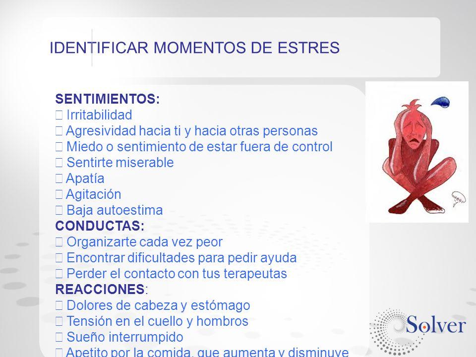 IDENTIFICAR MOMENTOS DE ESTRES