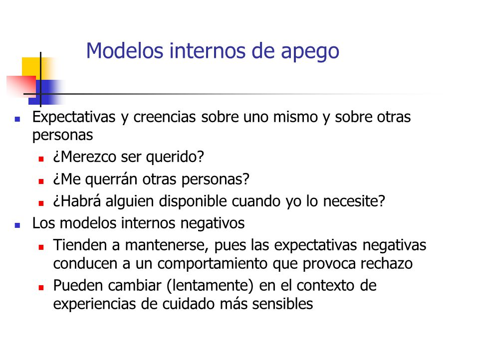 Modelos internos de apego