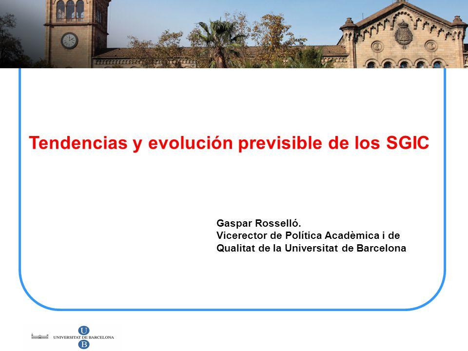 Tendencias y evolución previsible de los SGIC