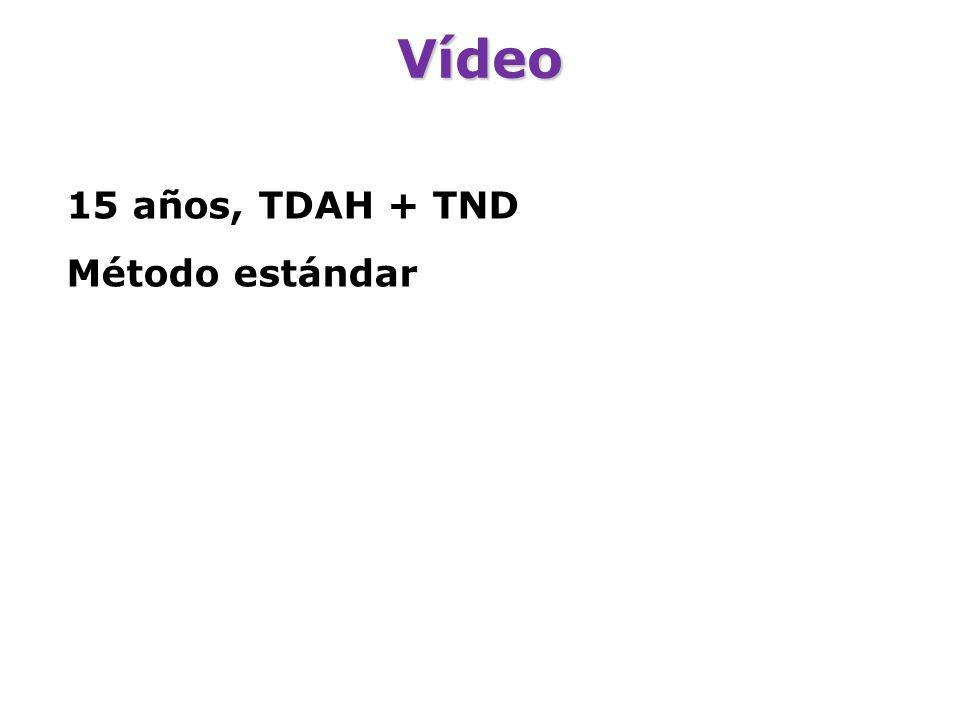 Vídeo 15 años, TDAH + TND Método estándar