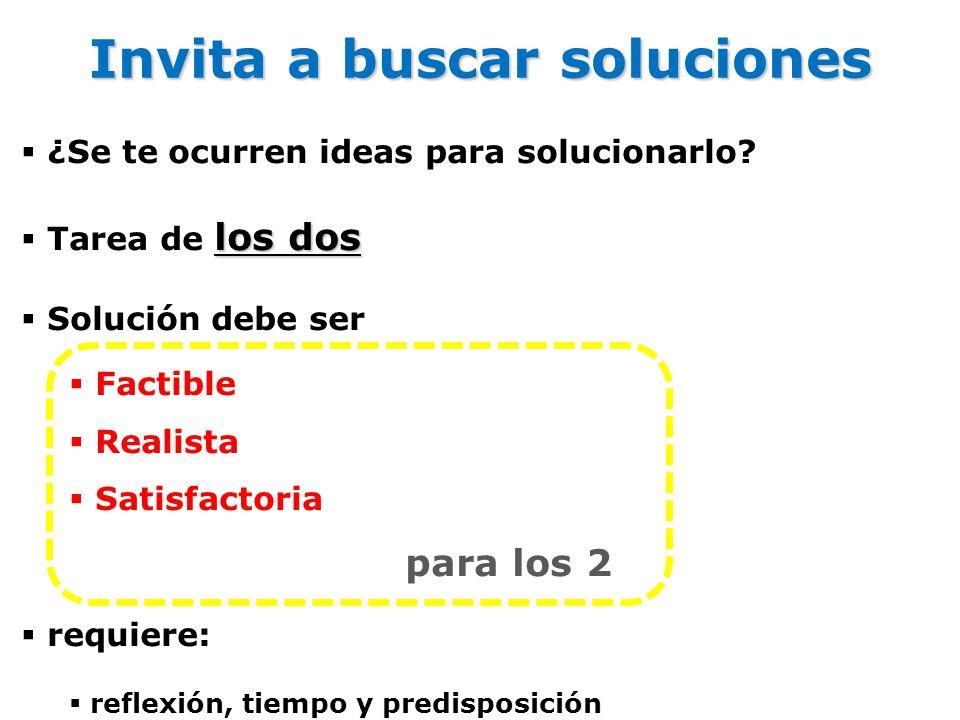 Invita a buscar soluciones