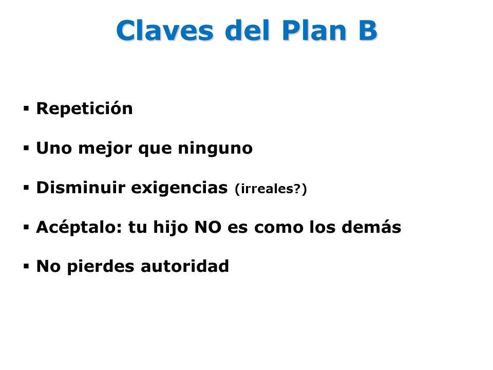 Claves del Plan B Repetición Uno mejor que ninguno