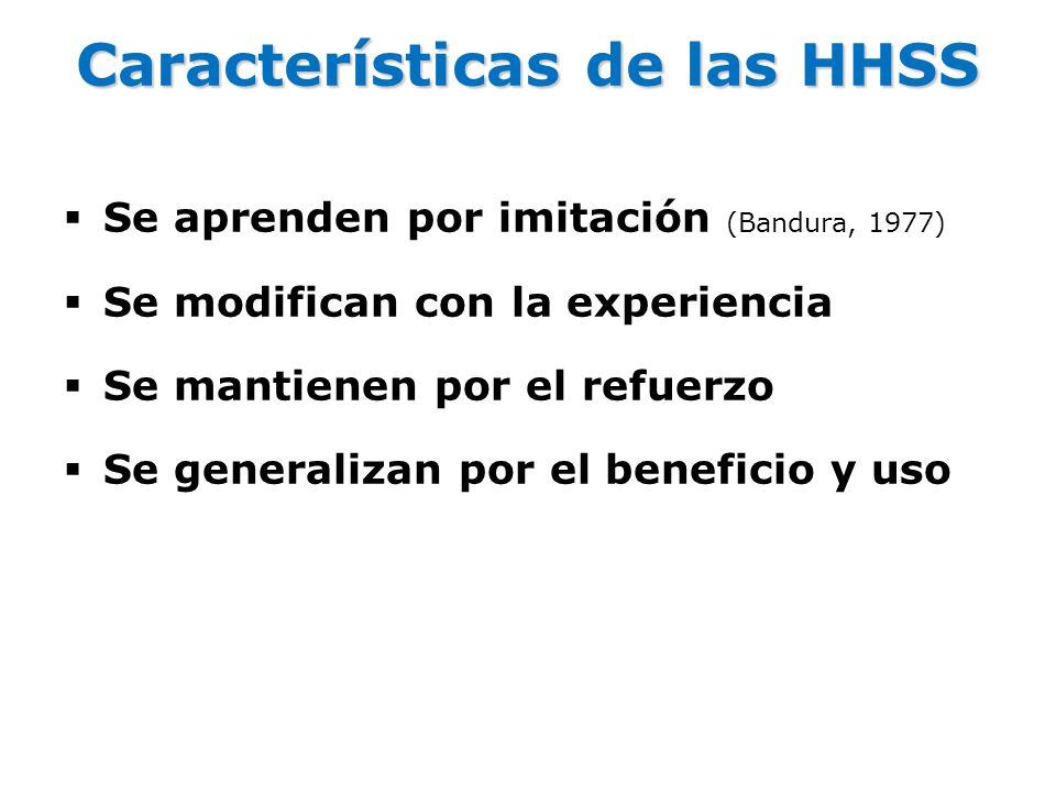 Características de las HHSS