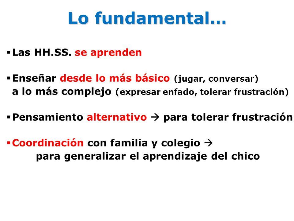 Lo fundamental… Las HH.SS. se aprenden
