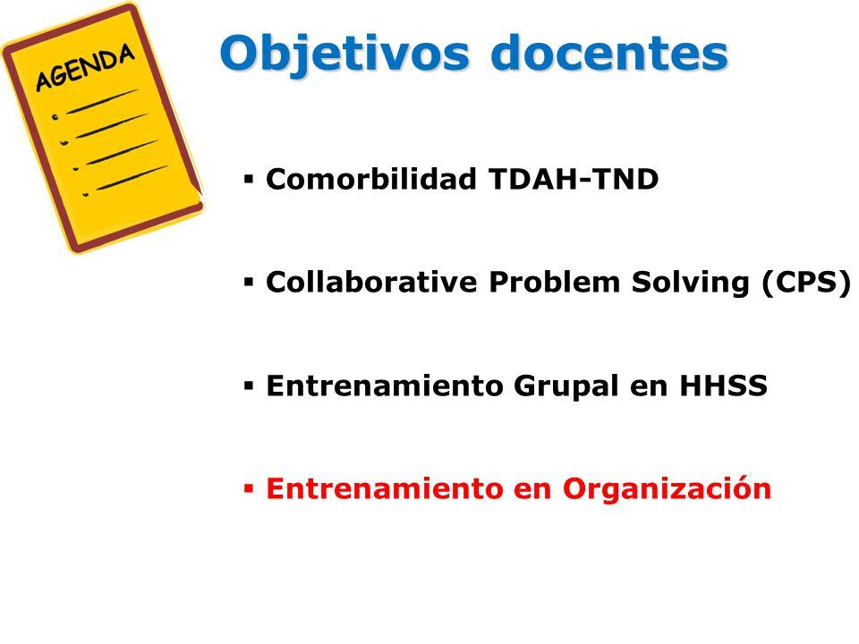 Objetivos docentes Comorbilidad TDAH-TND