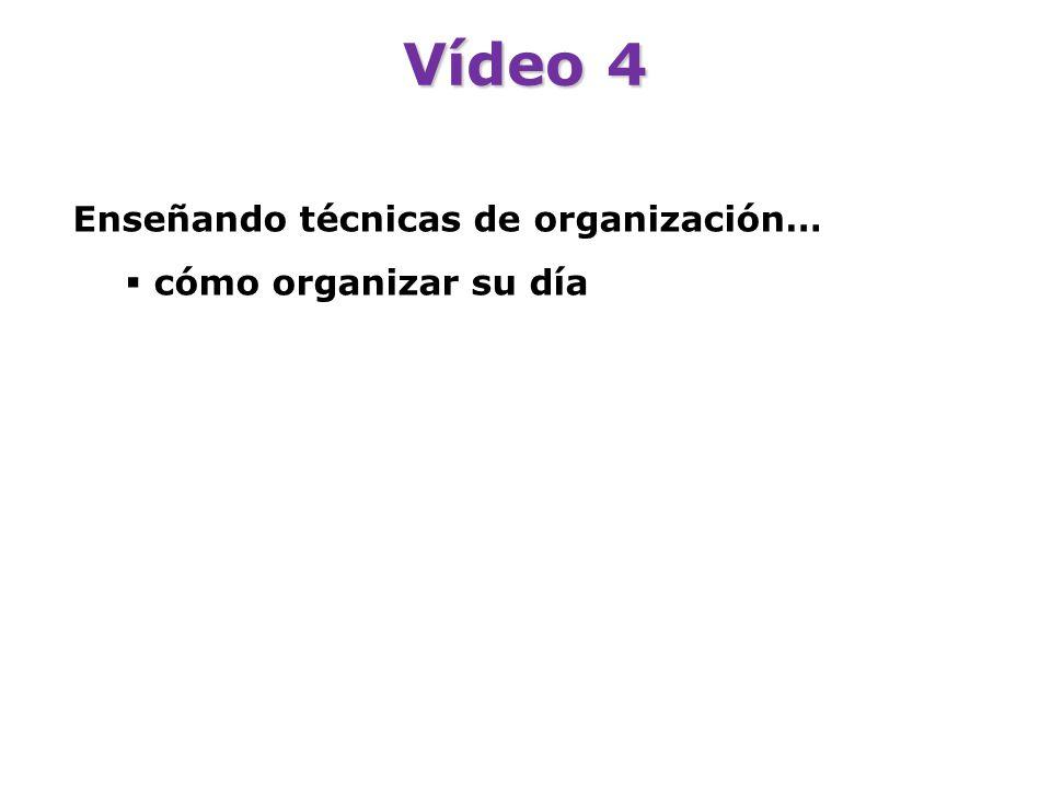Vídeo 4 Enseñando técnicas de organización… cómo organizar su día