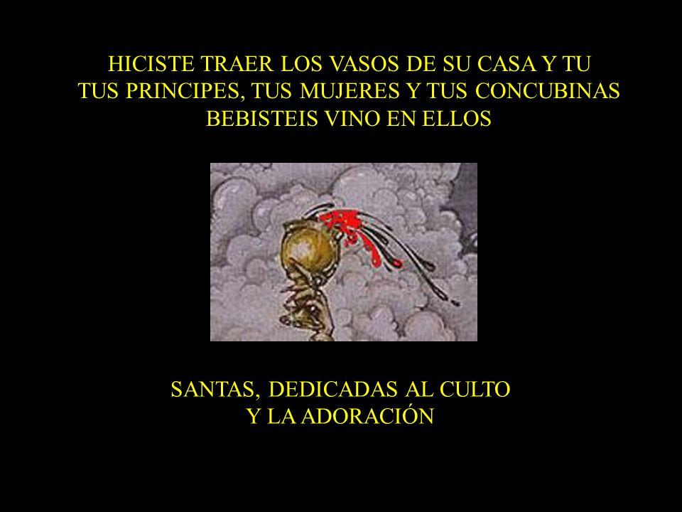 HICISTE TRAER LOS VASOS DE SU CASA Y TU