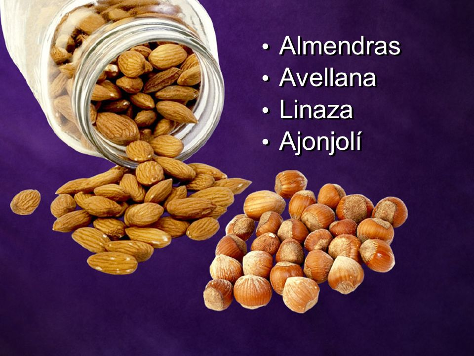 Almendras Avellana Linaza Ajonjolí