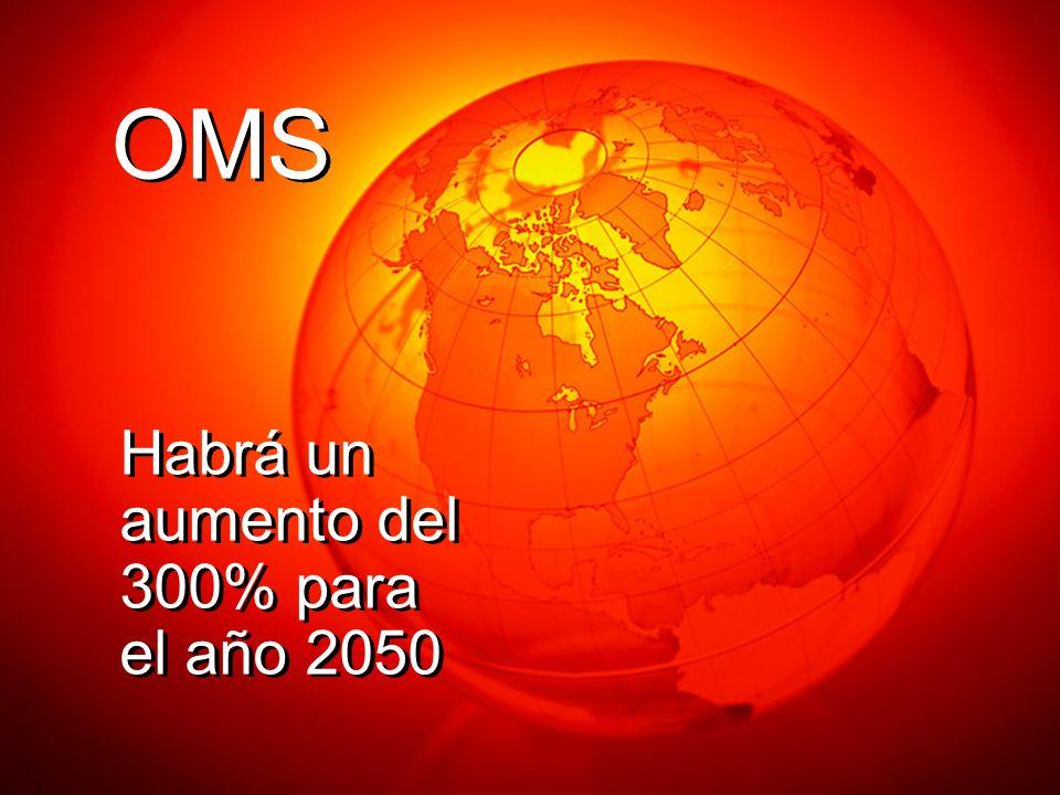 OMS Habrá un aumento del 300% para el año 2050