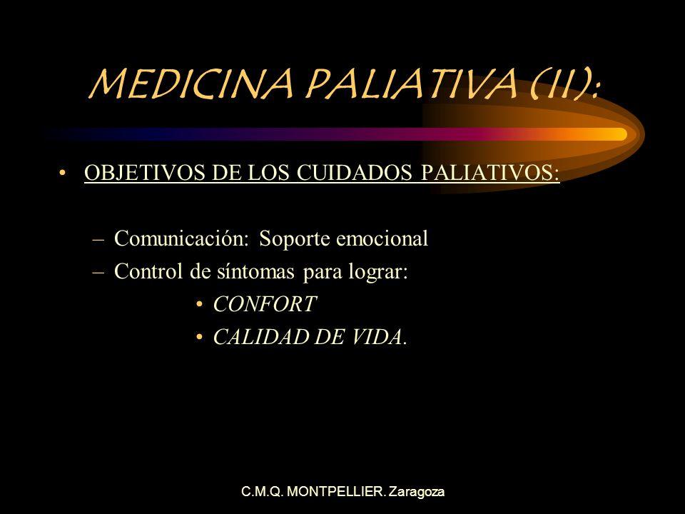 MEDICINA PALIATIVA (II):