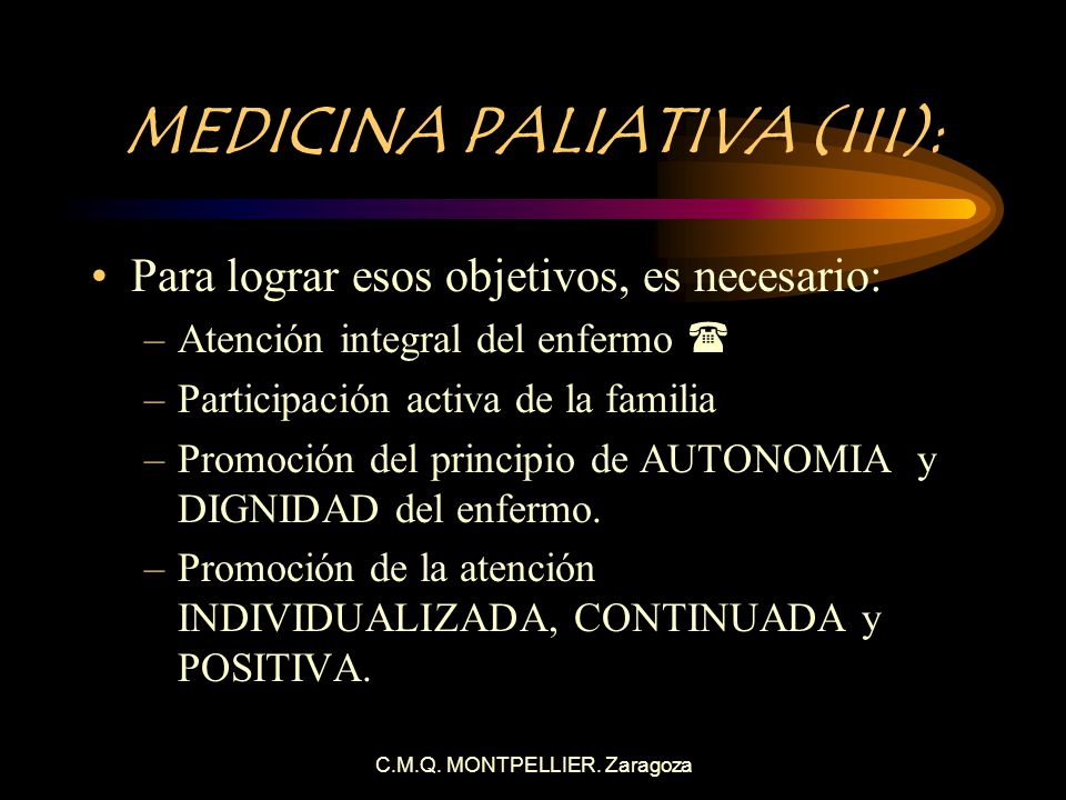 MEDICINA PALIATIVA (III):