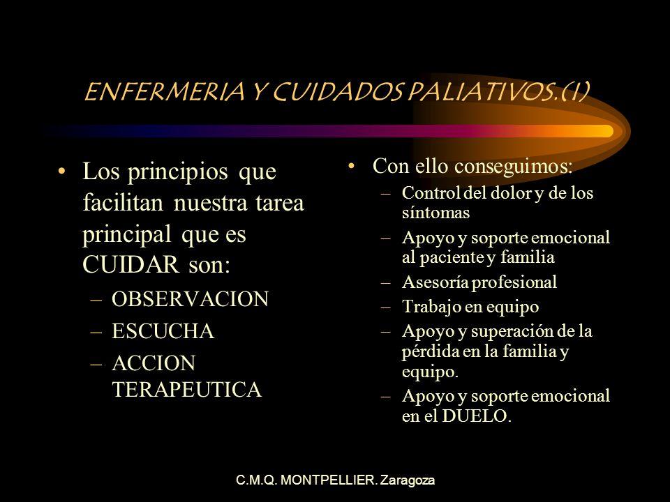 ENFERMERIA Y CUIDADOS PALIATIVOS.(I)