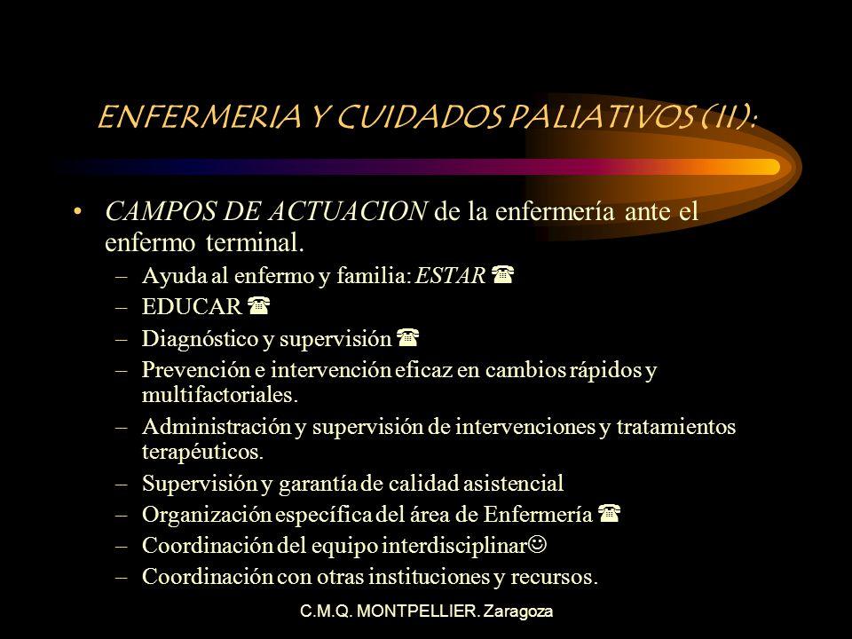 ENFERMERIA Y CUIDADOS PALIATIVOS (II):