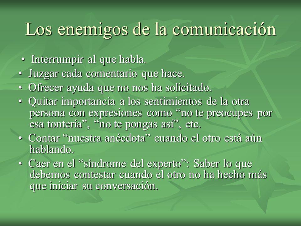 Los enemigos de la comunicación