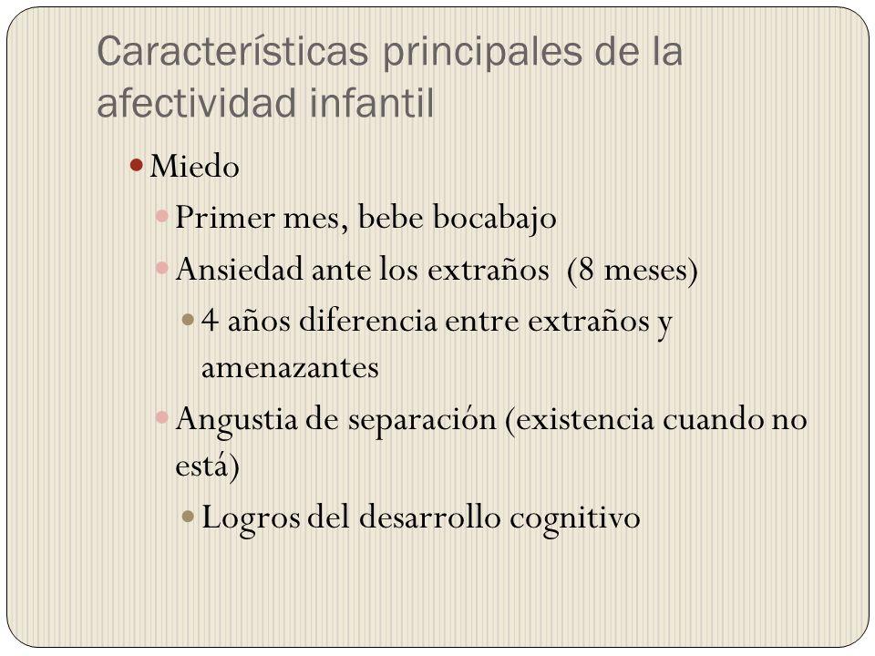 Características principales de la afectividad infantil