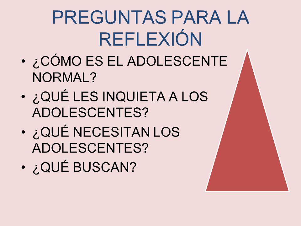 PREGUNTAS PARA LA REFLEXIÓN