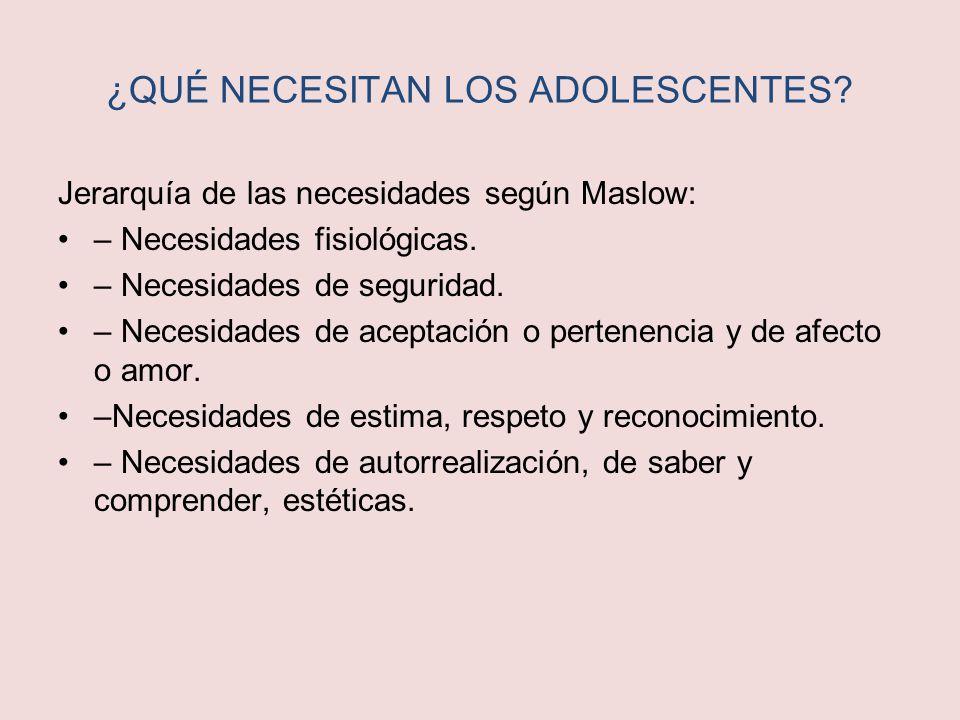 ¿QUÉ NECESITAN LOS ADOLESCENTES