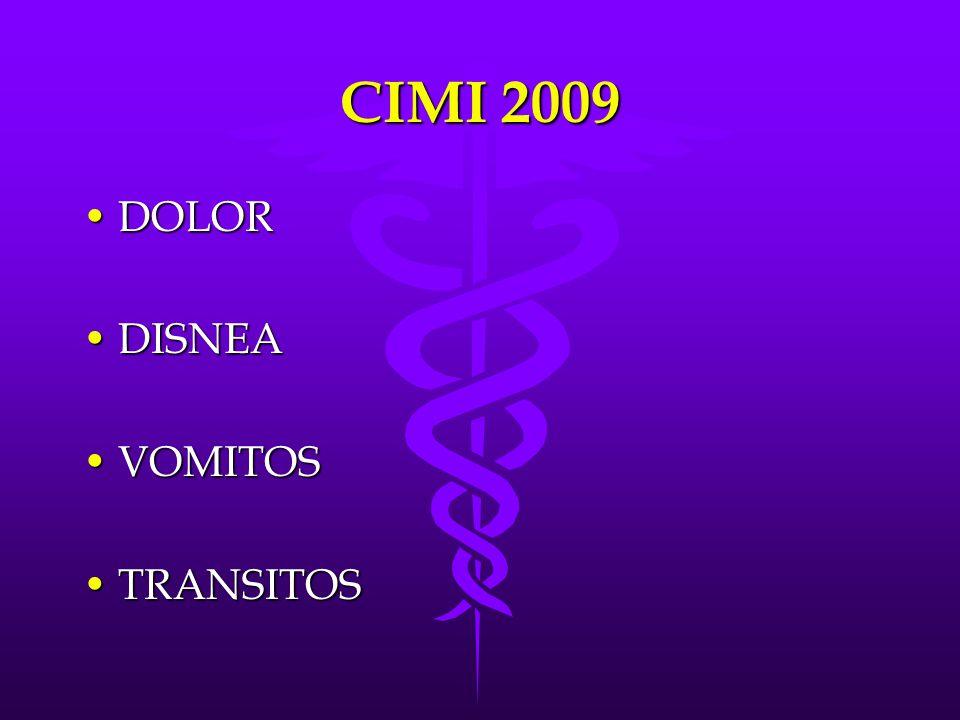 CIMI 2009 DOLOR DISNEA VOMITOS TRANSITOS