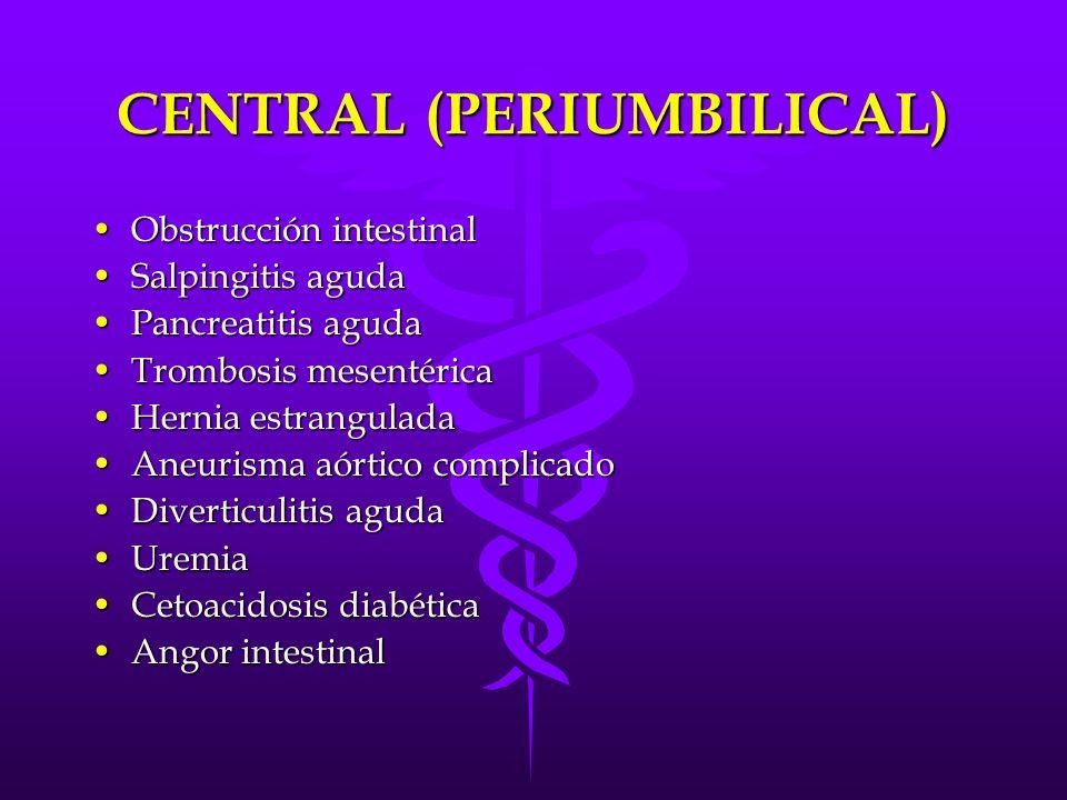 CENTRAL (PERIUMBILICAL)