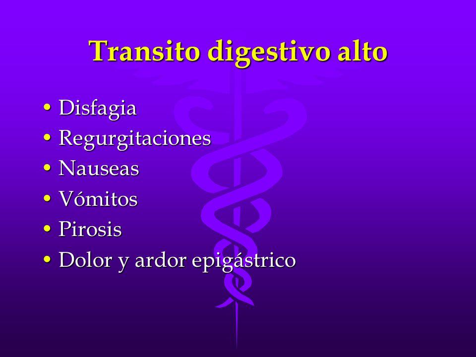Transito digestivo alto