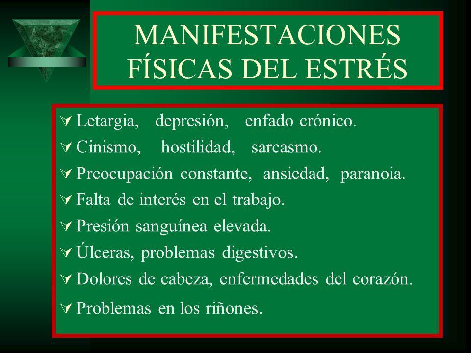 MANIFESTACIONES FÍSICAS DEL ESTRÉS