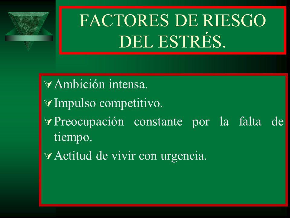 FACTORES DE RIESGO DEL ESTRÉS.