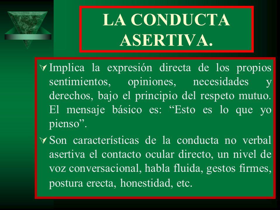 LA CONDUCTA ASERTIVA.