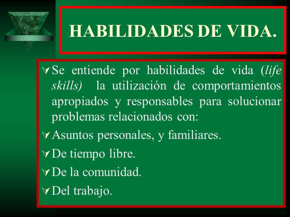 HABILIDADES DE VIDA.