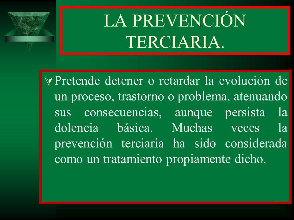 LA PREVENCIÓN TERCIARIA.