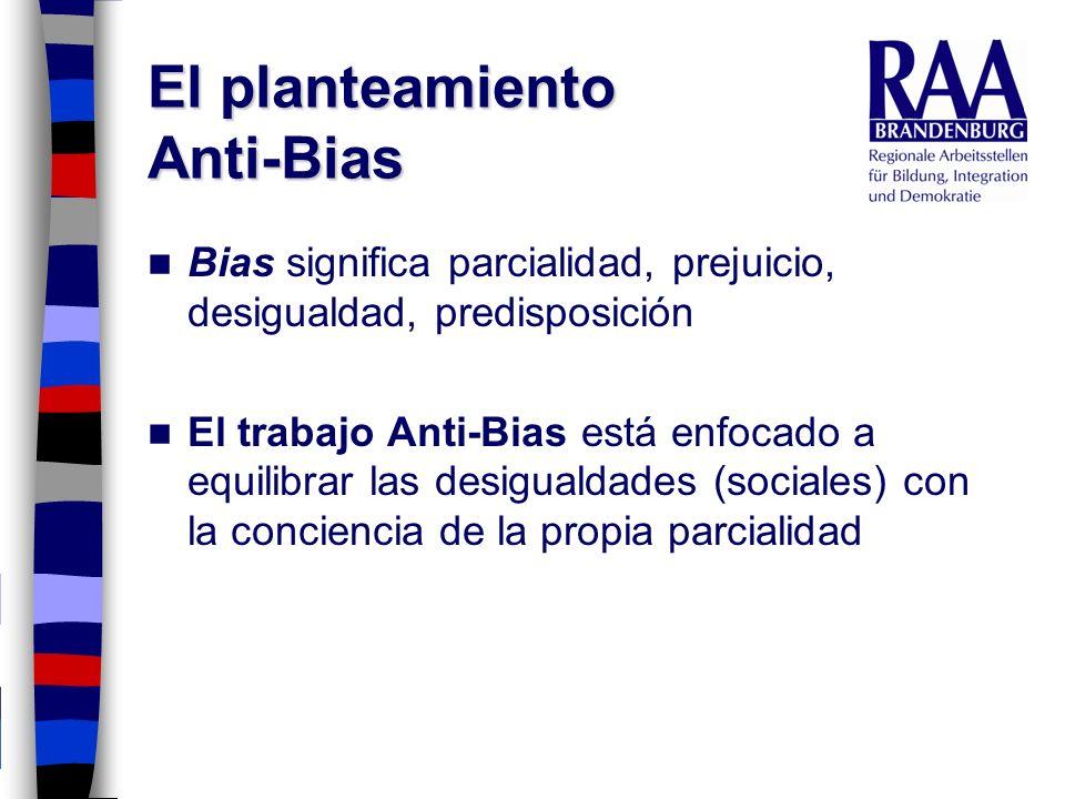El planteamiento Anti-Bias