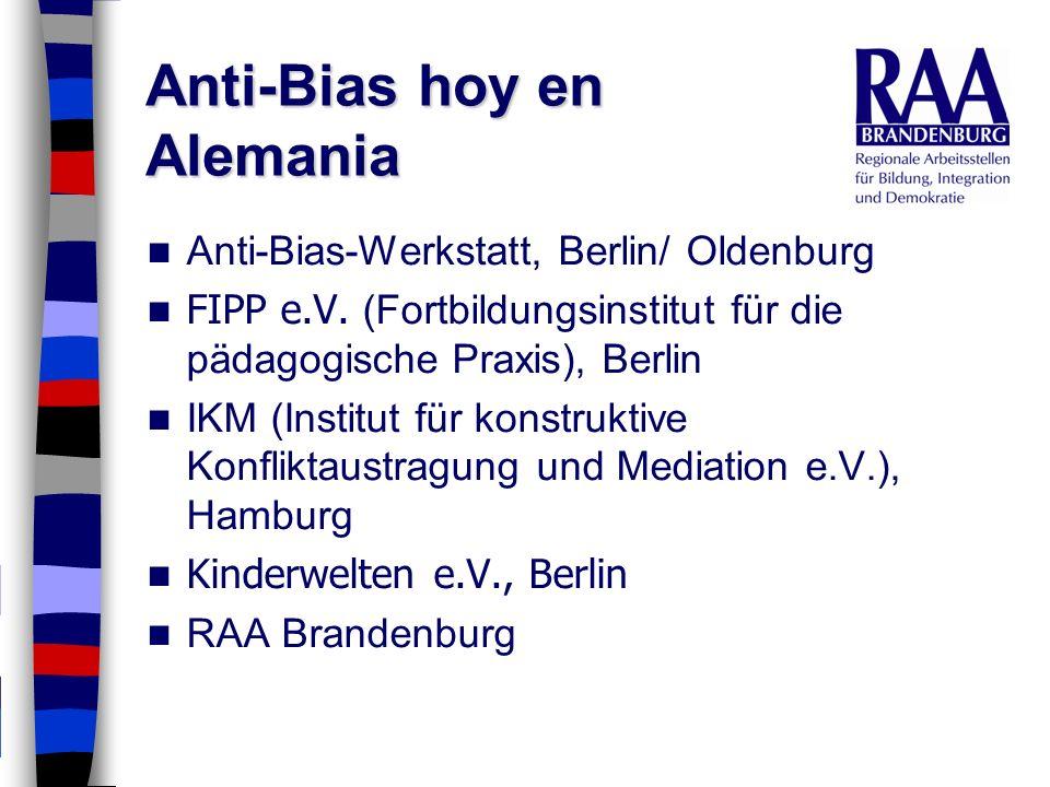 Anti-Bias hoy en Alemania