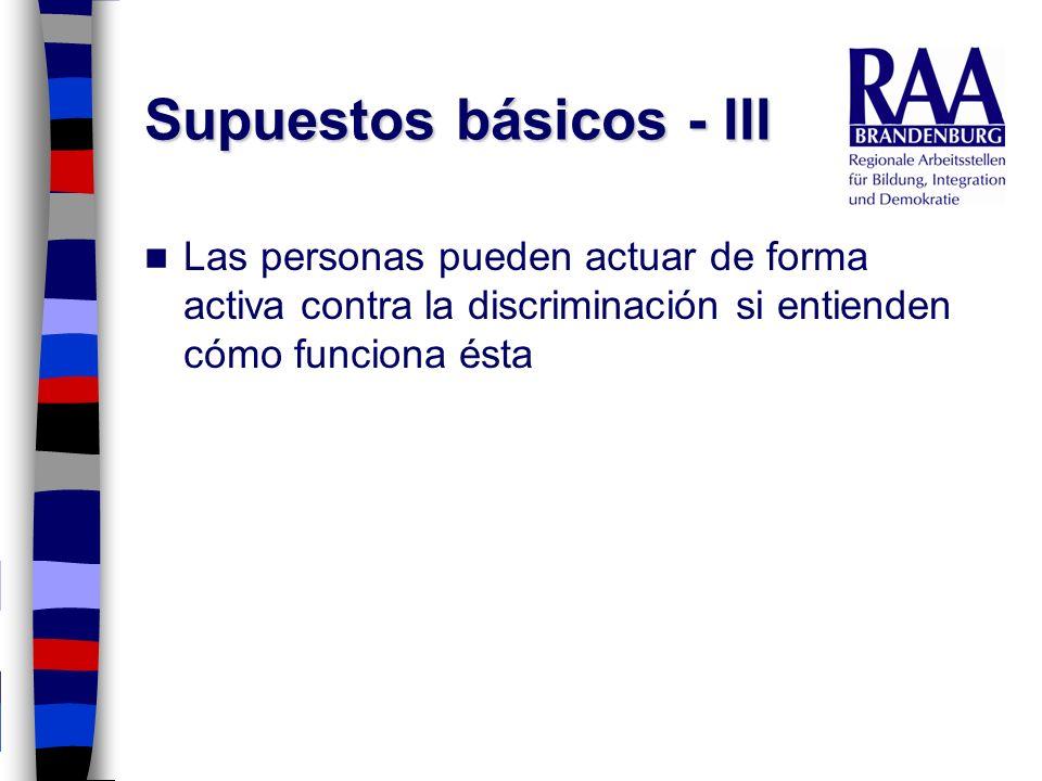 Supuestos básicos - III