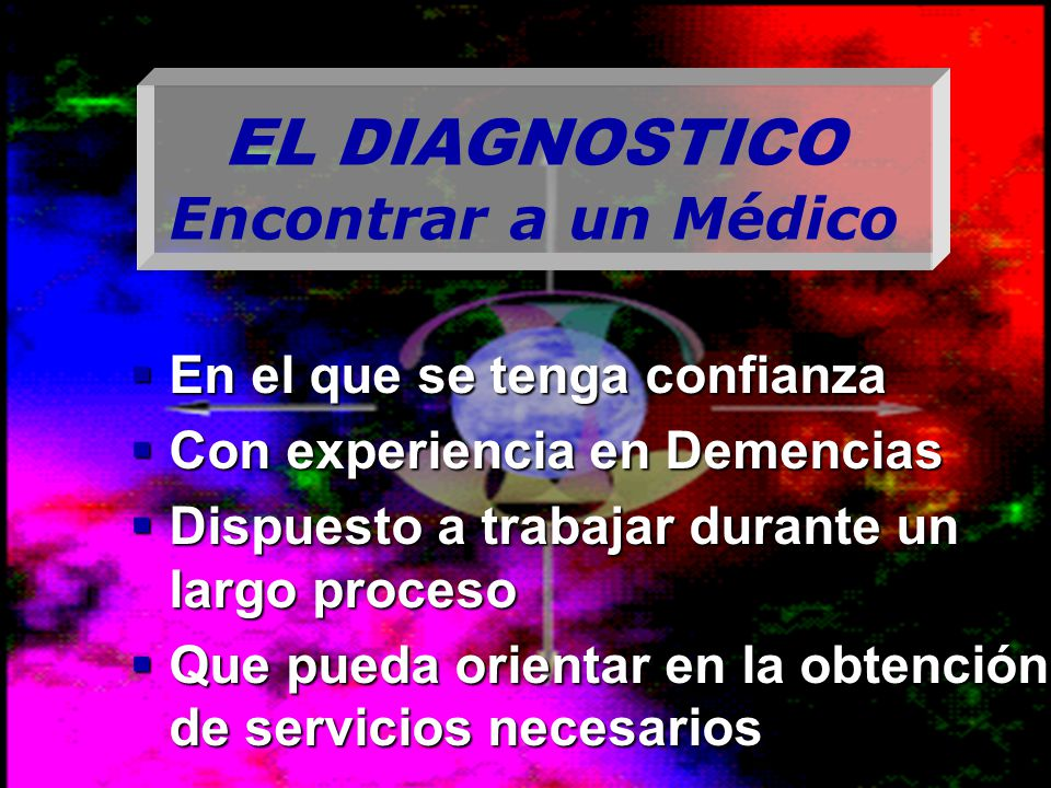 EL DIAGNOSTICO Encontrar a un Médico