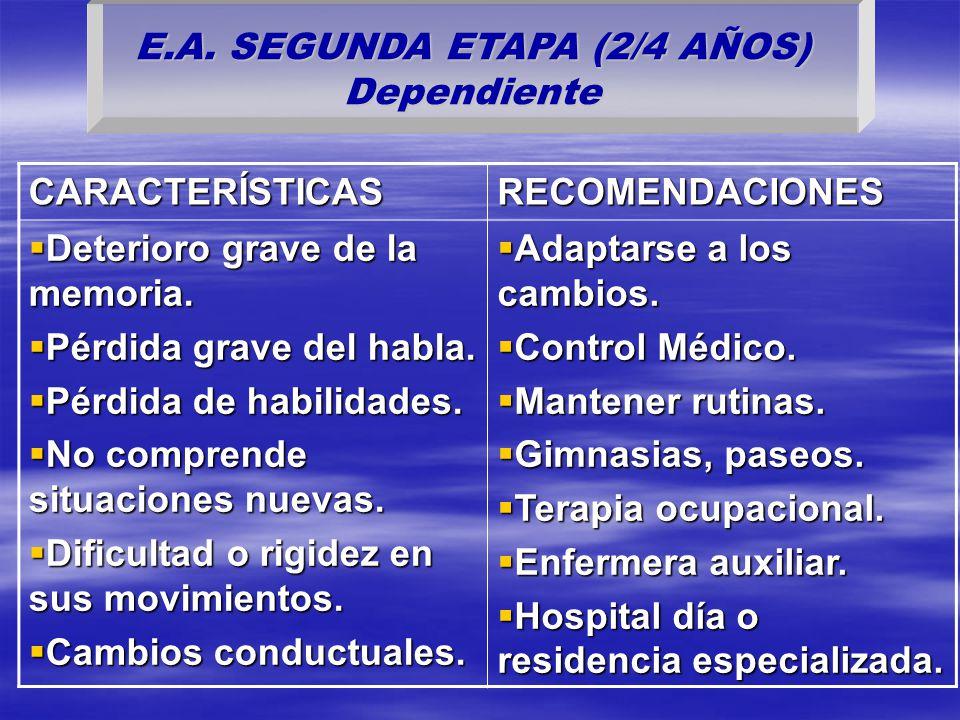 E.A. SEGUNDA ETAPA (2/4 AÑOS) Dependiente