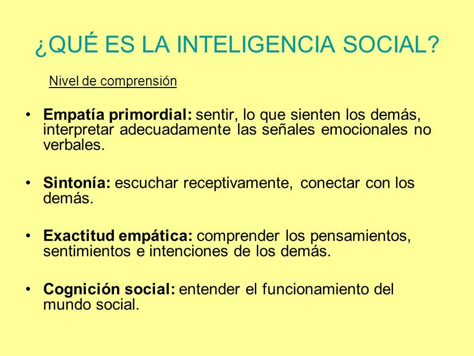 ¿QUÉ ES LA INTELIGENCIA SOCIAL