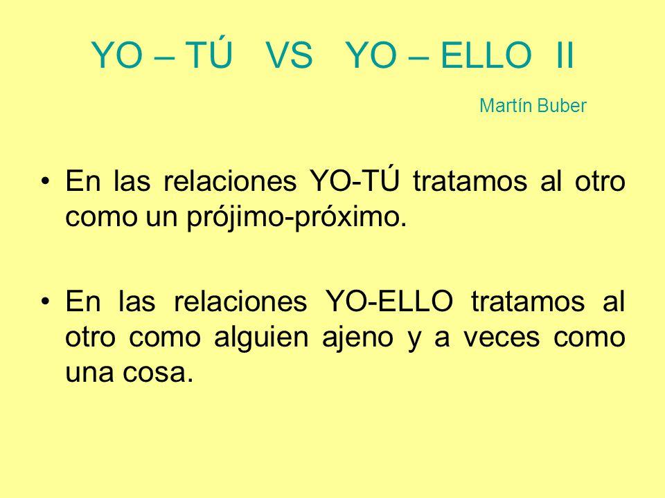 YO – TÚ VS YO – ELLO II Martín Buber