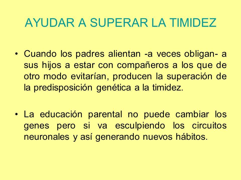 AYUDAR A SUPERAR LA TIMIDEZ