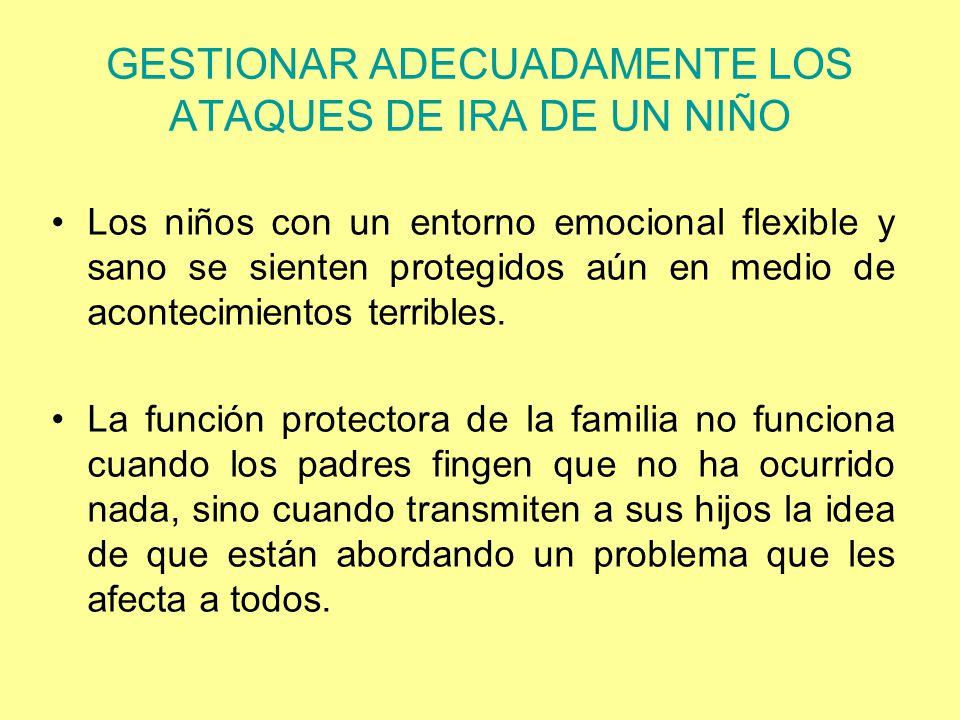 GESTIONAR ADECUADAMENTE LOS ATAQUES DE IRA DE UN NIÑO