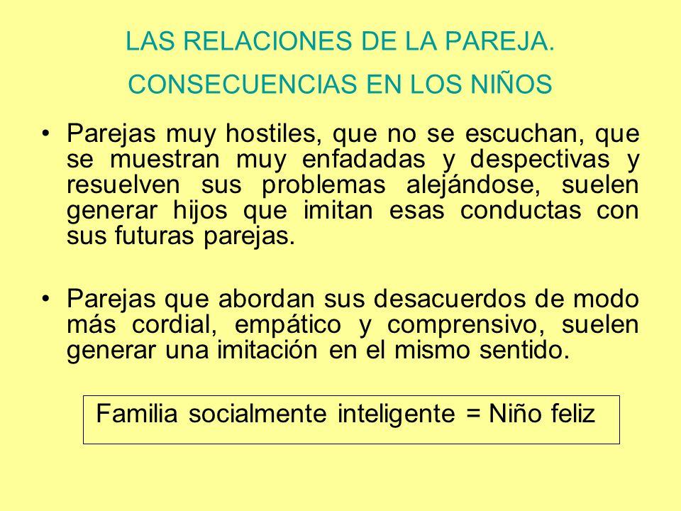 LAS RELACIONES DE LA PAREJA. CONSECUENCIAS EN LOS NIÑOS